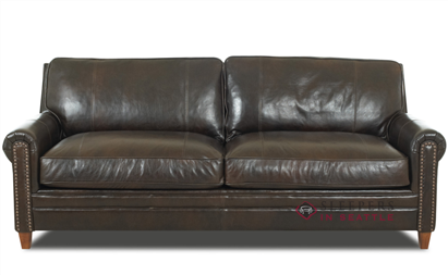 Savvy Calgary Leather Queen Sleeper Sofa | Sofa, Leather ...
