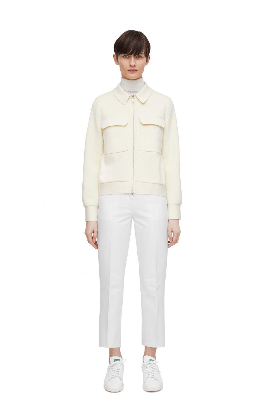 Merino Box Jacket Off White Knitwear Arket Gb White Knitwear Knit Structure Knitwear