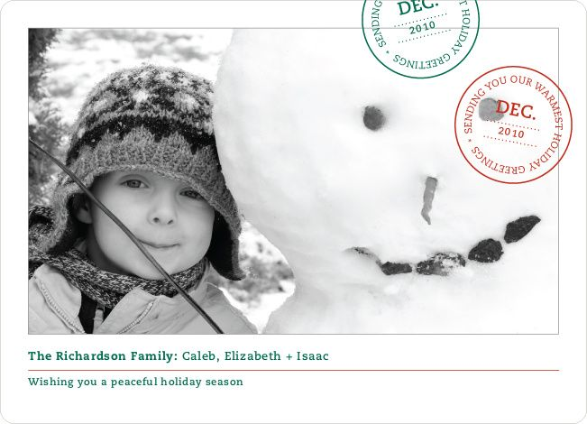Holiday Stamp Photo Cards by Paper Culture