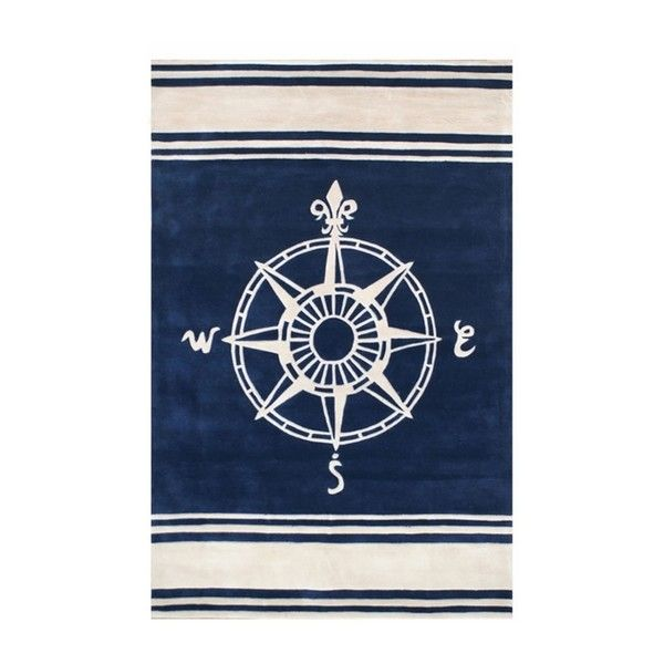 Classic Compass Rug In Navy By Nejad Rugs, Round & Oval