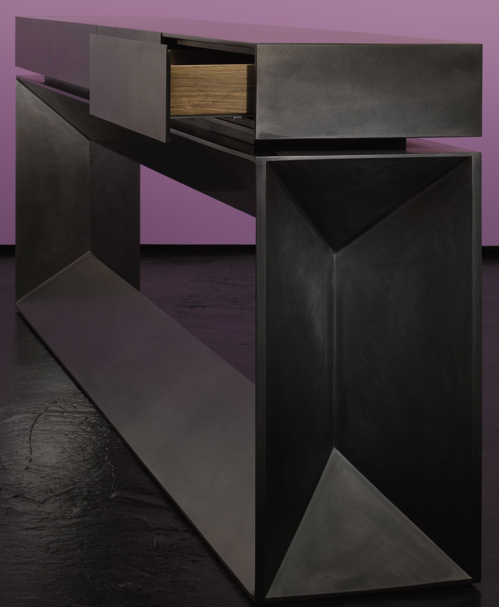 Bespoke global product detail long black console table bespoke global product detail long black console table geotapseo Gallery