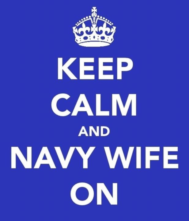 I hate these signs....but love this one! Almost a navy wife!