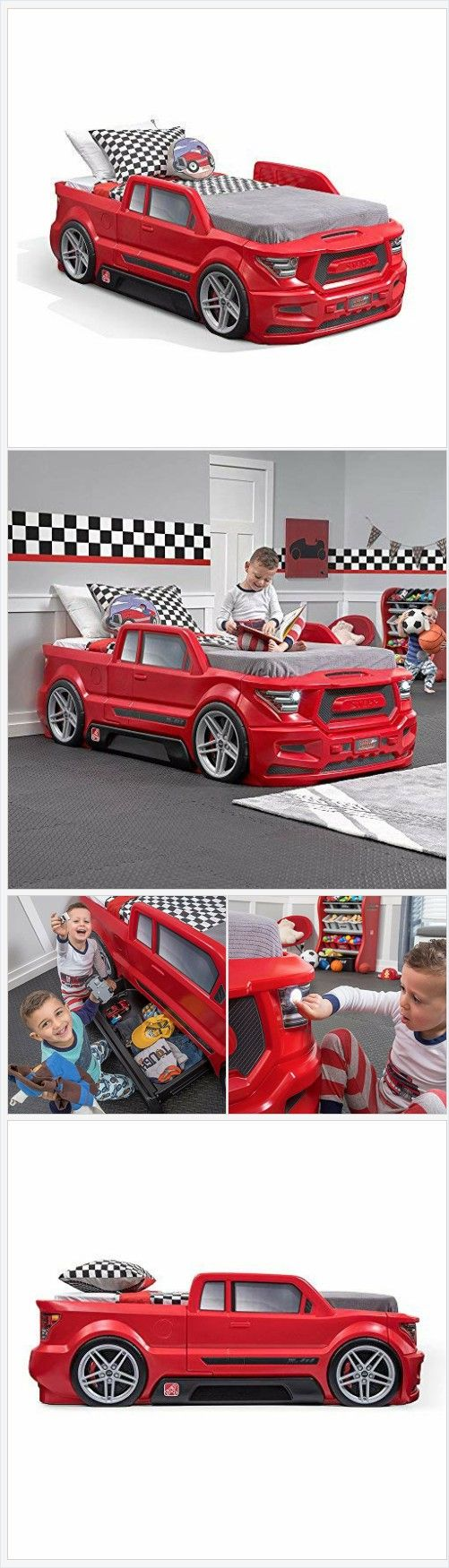 Step2 Turbocharged Twin Truck Kids Bed, Red Amazon