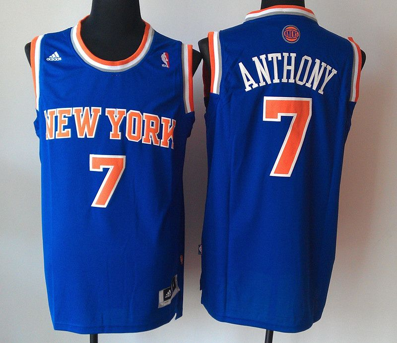 Adidas NBA New York Knicks 7 Carmelo Anthony New Revolution 30 Swingman  Blue 2012 New Jersey