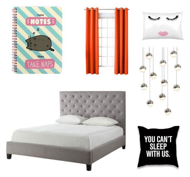 """My bedroom"" by rosarioenciso on Polyvore featuring interior, interiors, interior design, Casa, home decor, interior decorating, Sun Zero, Tribecca Home, Sonneman e Pusheen"