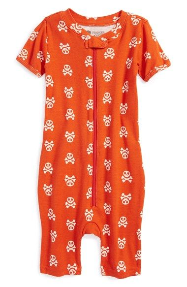 427a3d1c3 Orange skull print romper by Tucker & Tate Baby Boy Clothes Hipster, Cool  Boys Clothes