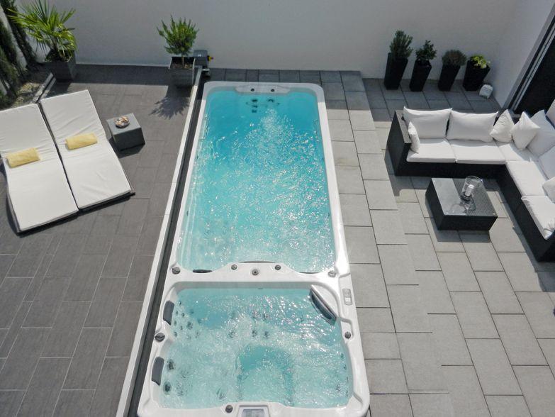 Swimspa Das Fitnessstudio im Garten schwimmbadde Pool - indoor pool bauen traumhafte schwimmbaeder