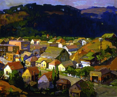 Cambria Painting by Franz Bischoff   Oil Painting