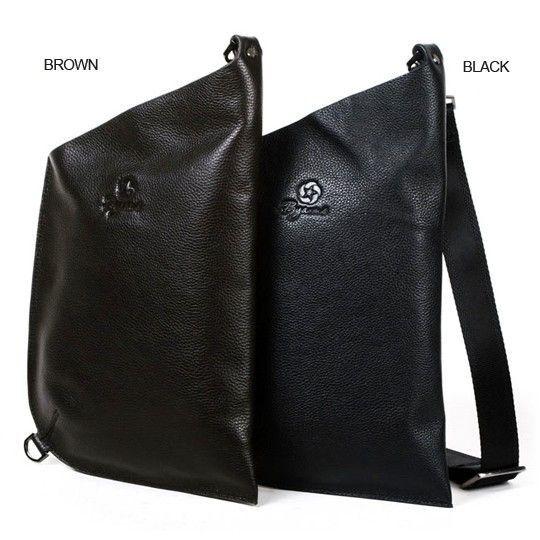 Byarms New 2011 Ultra-Thin Leather Men's Shoulder Messenger Bag-Color Black
