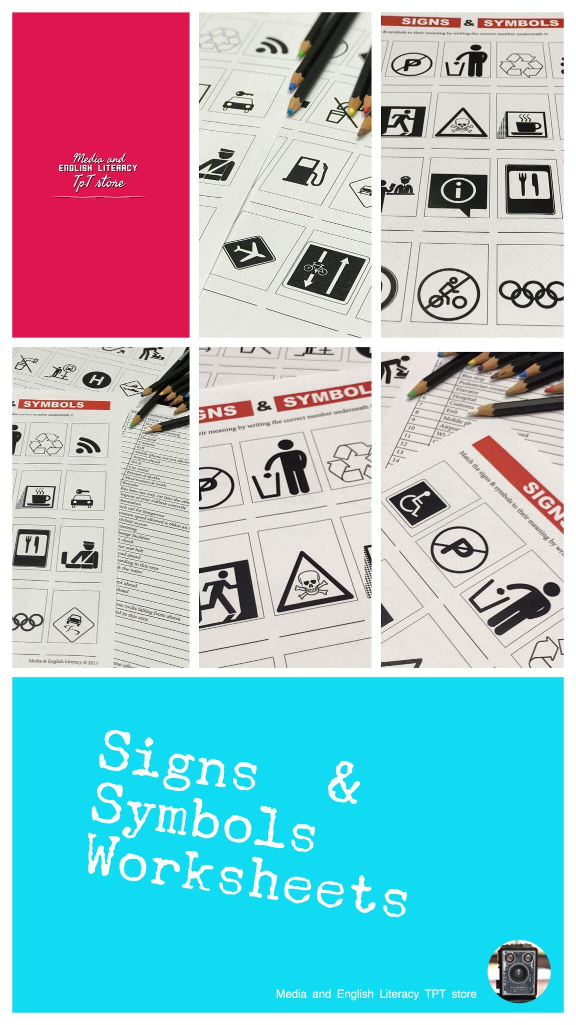 Media literacy - signs & symbols worksheets | Pinterest | Media ...