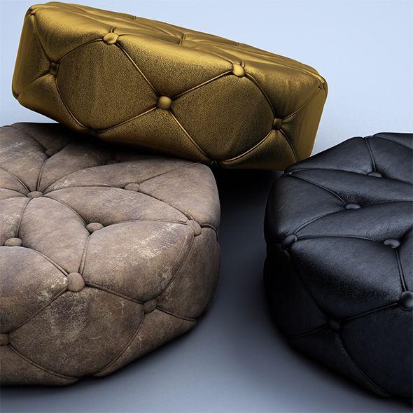 Superb Puff Chair Room 3D Model 3D 3Dmodel 3Ddesign 3Dscene Short Links Chair Design For Home Short Linksinfo