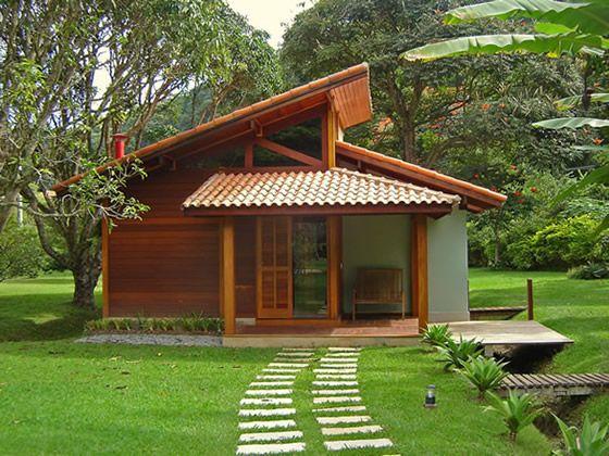 Projeto de casas de madeira projetos de casas constru o civil pinterest pesquisa casas - Modelos de casas de campo pequenas ...