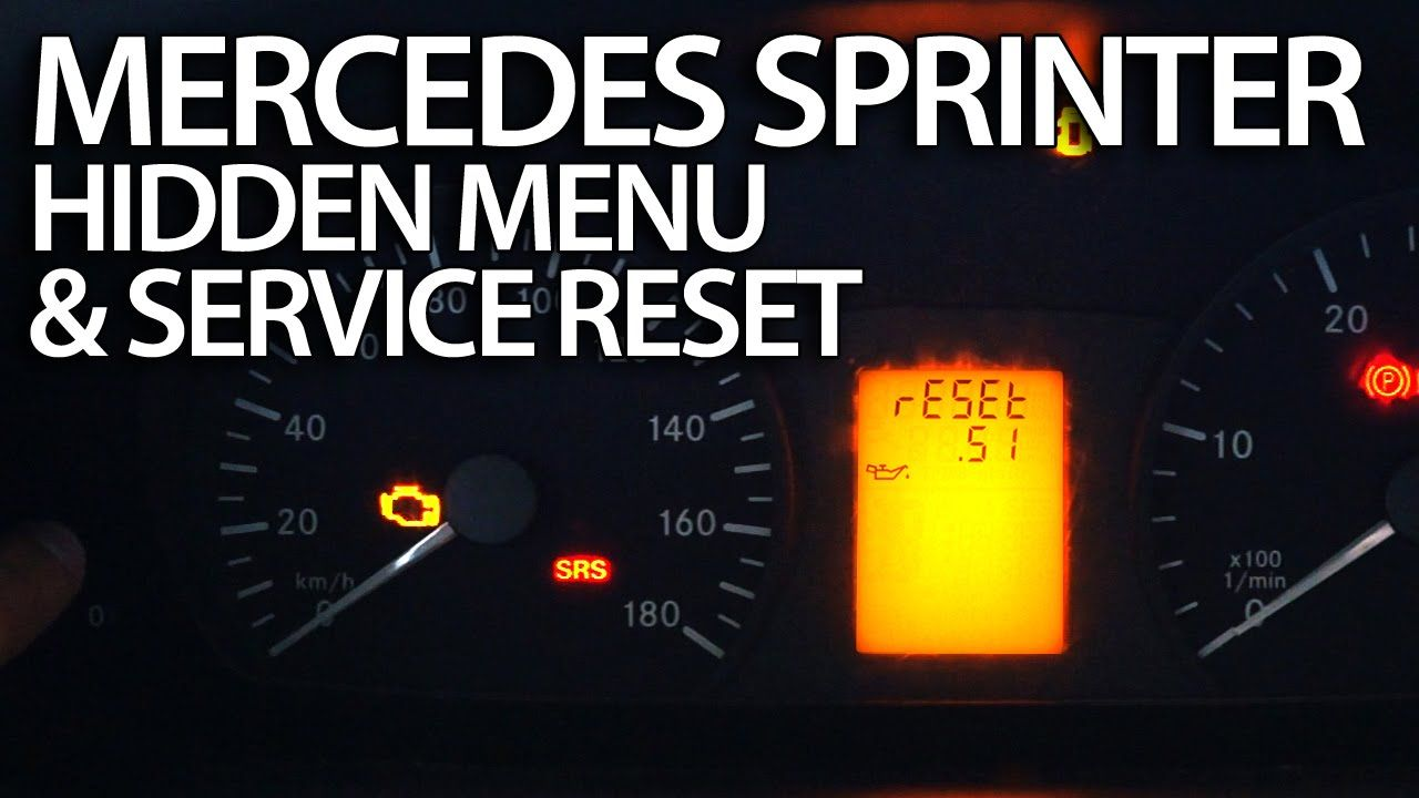 How to #reset service reminder in #Mercedes #Sprinter hidden