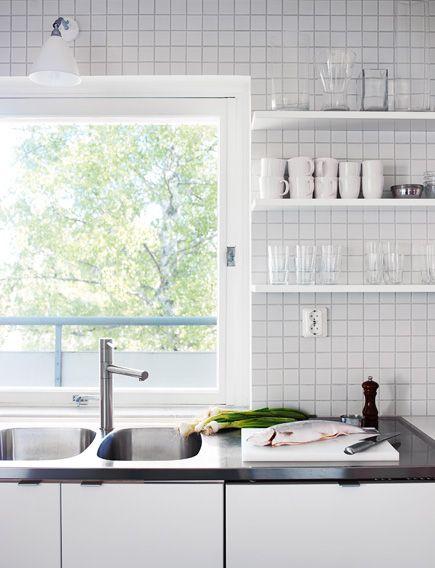 White kitchen with window