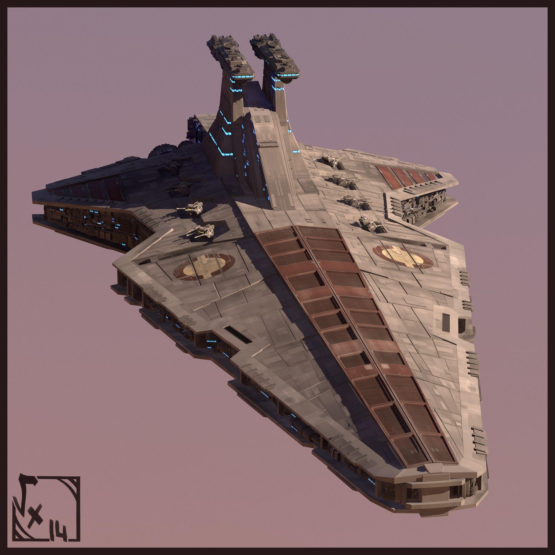 Artstation Star Wars Redemption Stardestroyer Class Venator
