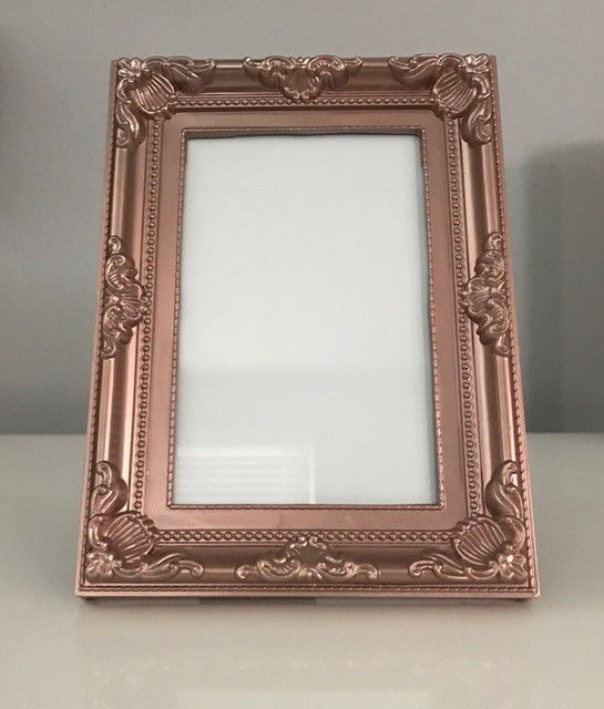NEW Picture Frame Rose Gold Elegant Design 4x6\