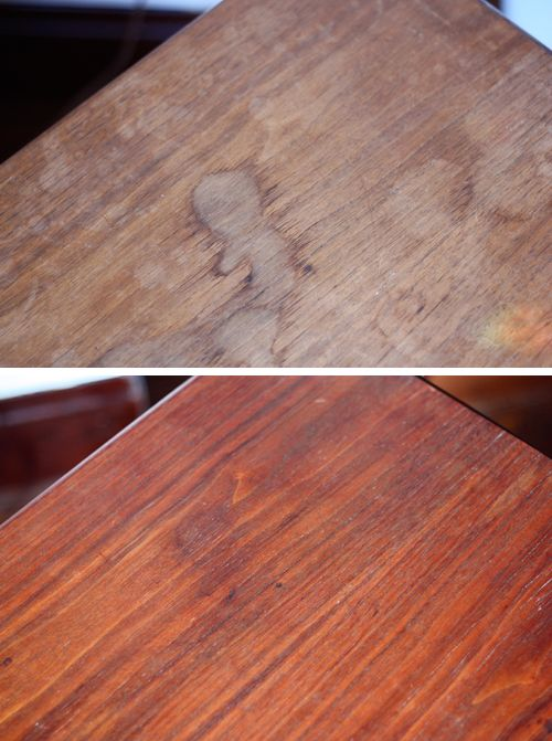 Experiment Mayonnaise To Treat Water Stains How About Orange Water Stain On Wood Water Stains Remove Water Stains