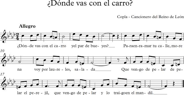 ¿Dónde vas con el Carro?. Copla del Cancionero del Reino de León.
