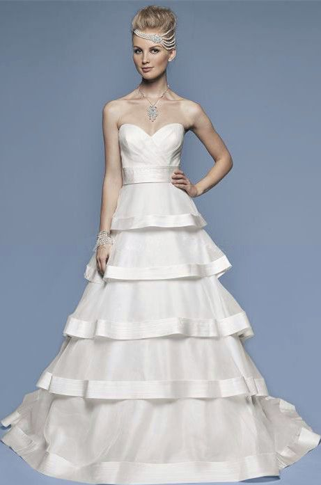 Sweetheart A-line Organza Timeless Wedding Dress | Wedding Gowns ...
