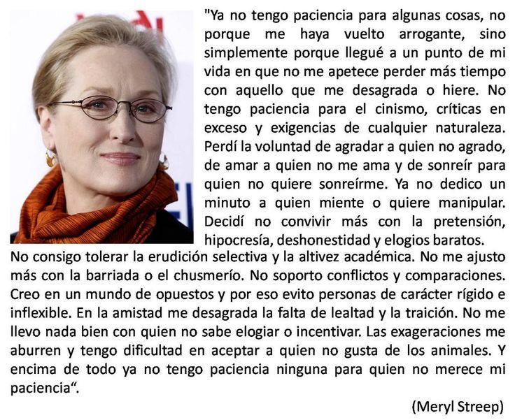Frases Verdaderas De La Vida: Frases De Meryl Streep, Meryl Streep Y Frases