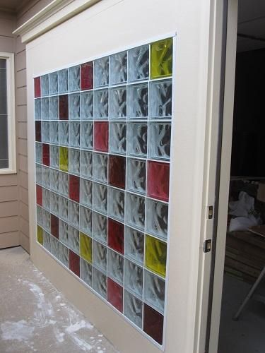 Colored Glass Block Wall Customer Image Quality Glass Block