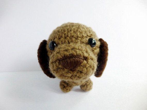 Amigurumi Crochet Brown Puppy Dachshund van possumsloveart op Etsy