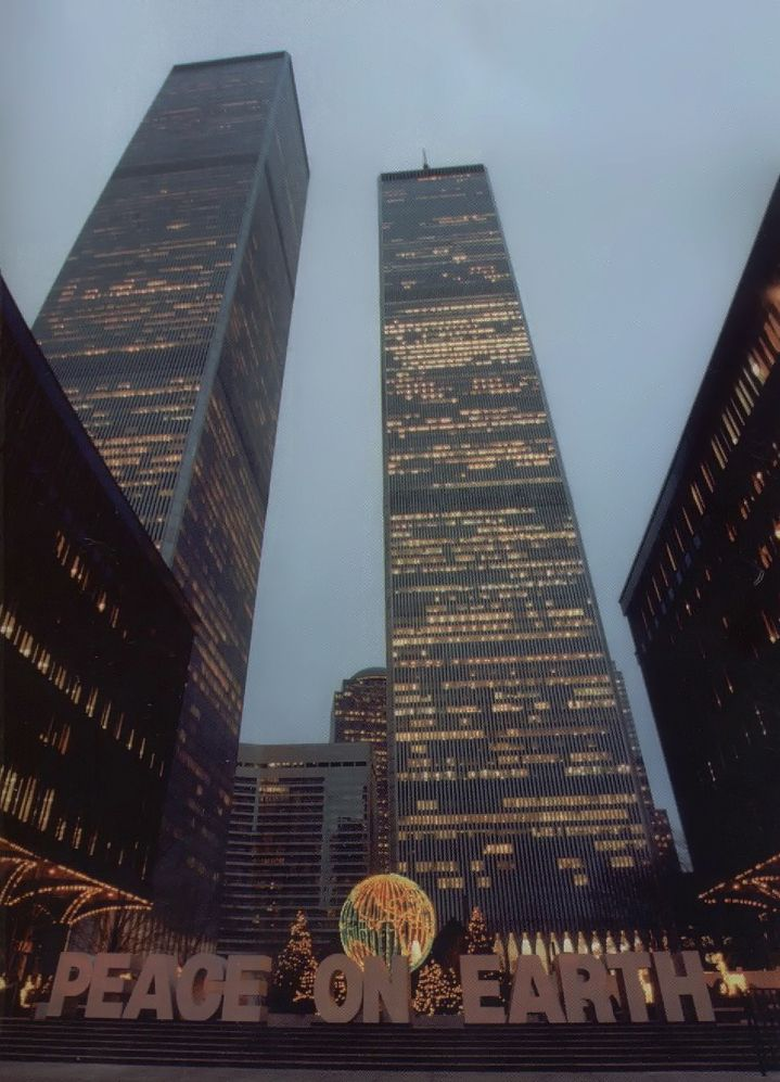 Old World Trade Center during the Christmas Season, 1995