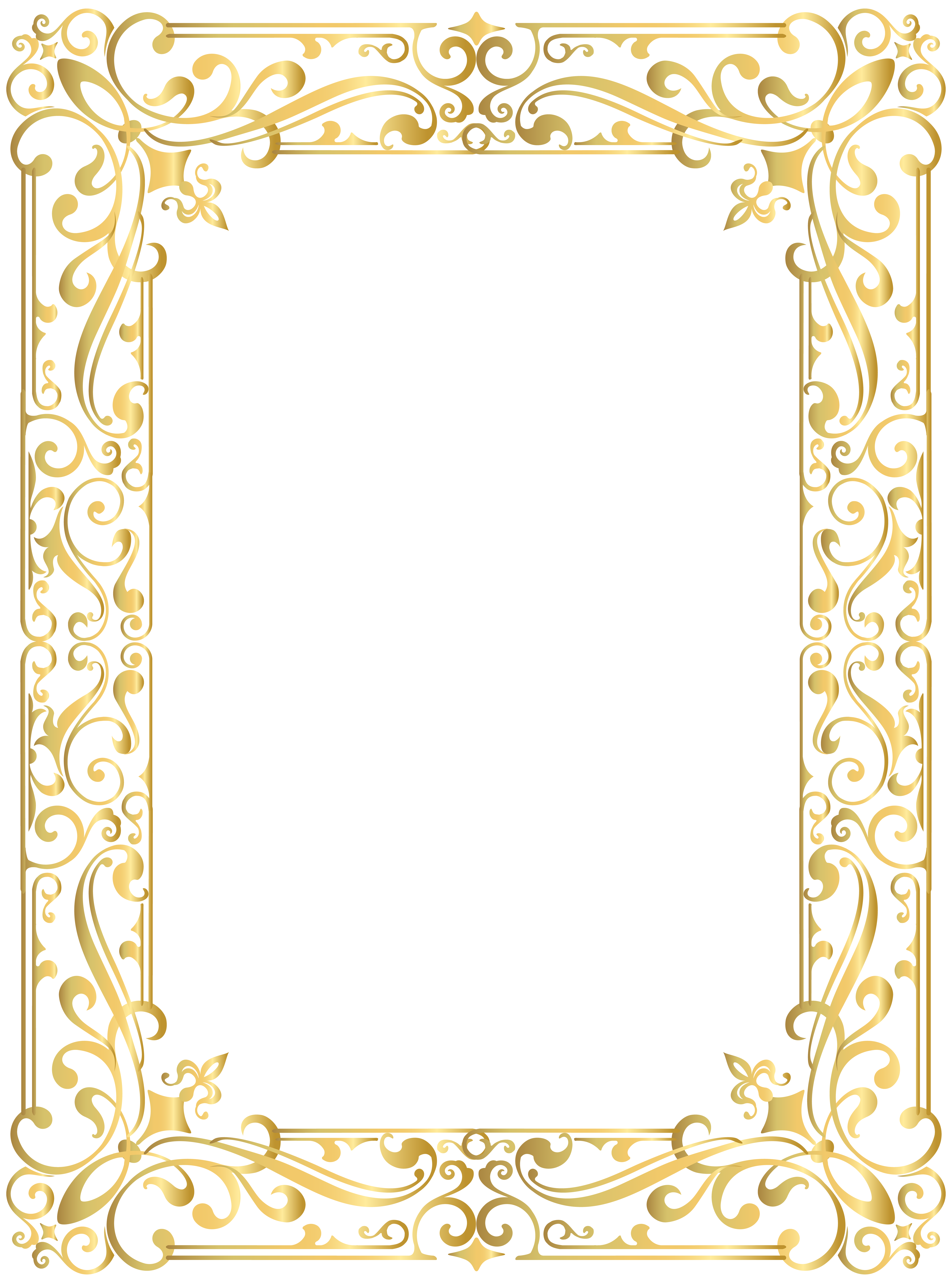 Border Frame Gold Png Clipart Image Gallery Yopriceville High Quality Images And Transparent Png Free Frame Border Design Printable Frames Picture Borders