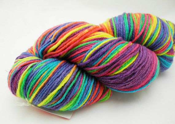 CMY  Hand Dyed Yarn  Dyed to Order van DyeabolicalYarns op Etsy