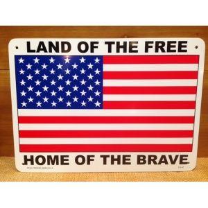 画像: 看板/プラサインボード 自由人の国 勇者の故郷(星条旗) Land of the Free