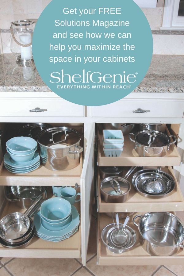 Get More Storage And Access When You Add Pull Out Shelves To Your Existing  Cabinets!