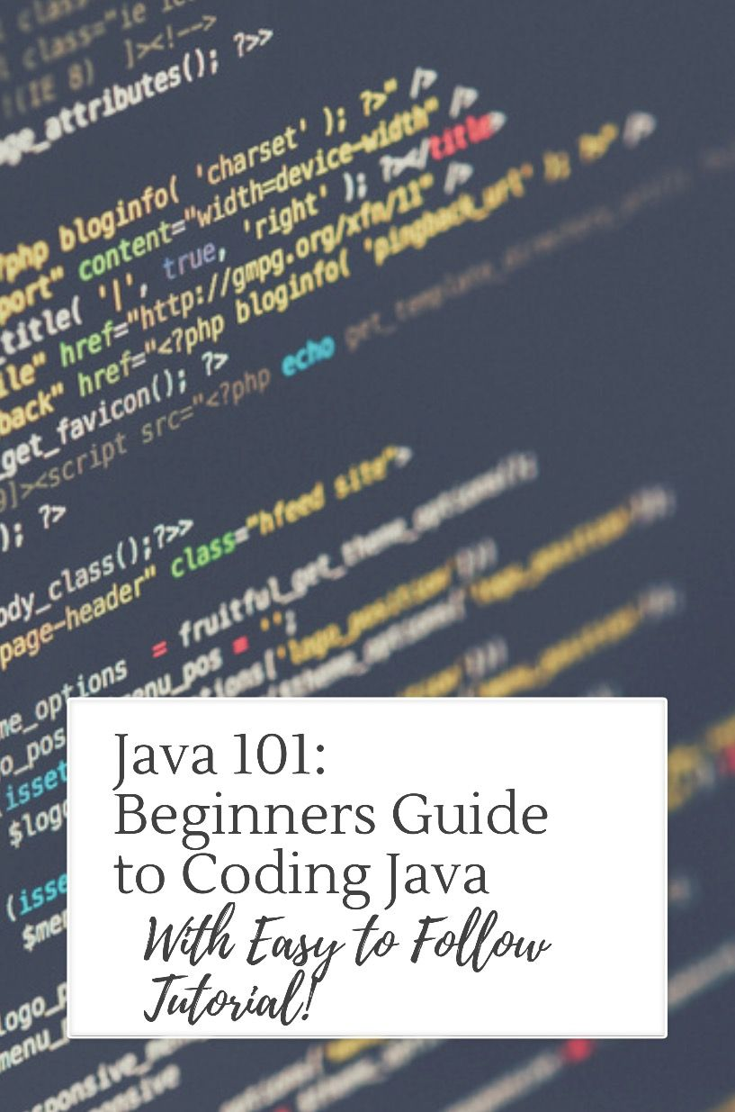 Java 101 easy guide to learning java for beginners code included java 101 beginners guide to learning how to code java with easy to follow coding coding tutorialsprogramming baditri Gallery