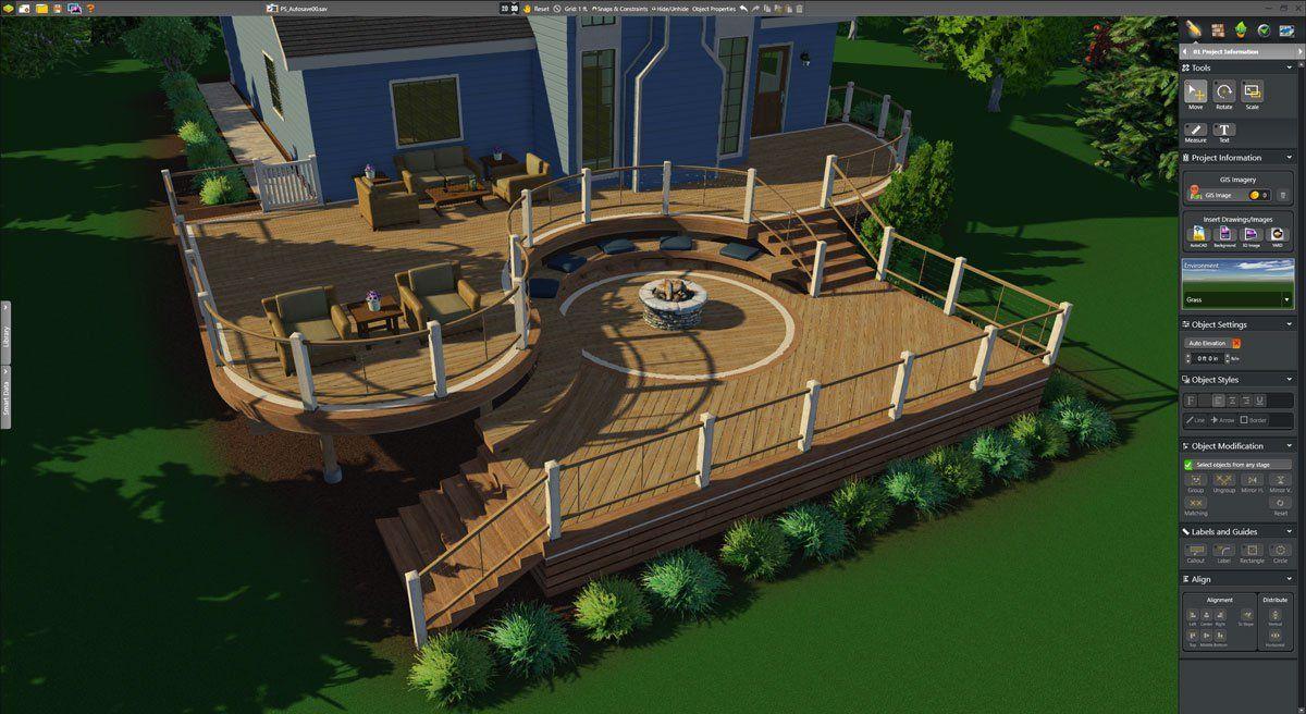 Wooden Deck designs in 3D | Landscape design software ...
