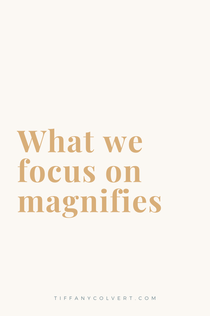 Let's focus on joy. Let's focus on gratitude. Now more than ever.