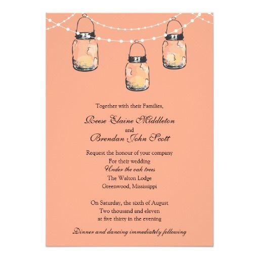 Wedding - 3 Hanging Mason Jars Invitation   Zazzle.com ...