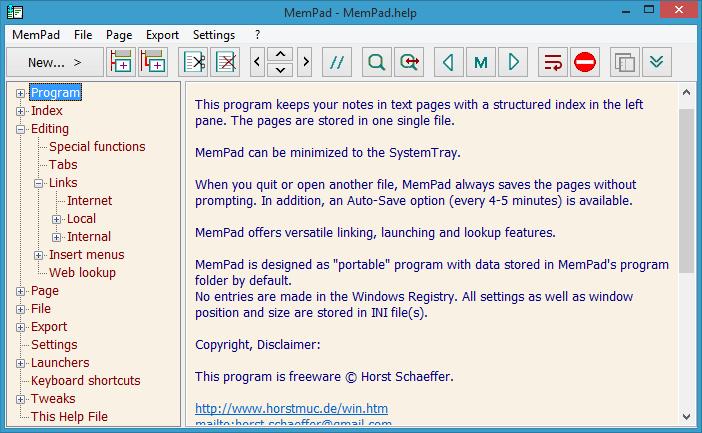 Horst Schaeffer's Software Pages Software, Insert text