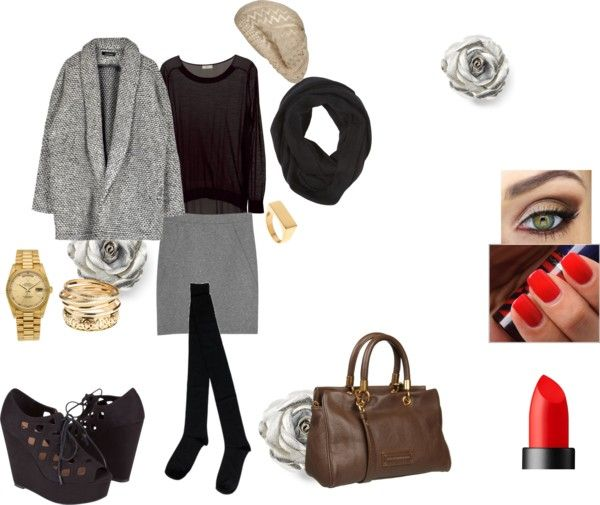 """Formal Winter"" by agathe-dubois ❤ liked on Polyvore"