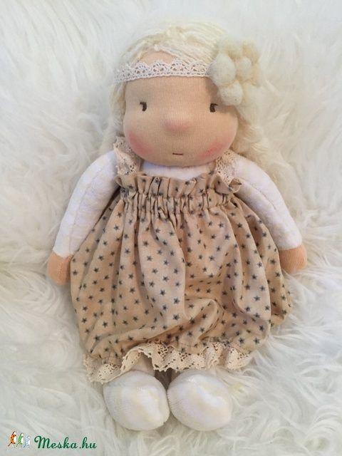 Lina baba - Waldorf baba, kislány 30 cm (MiniMi) - Meska.hu