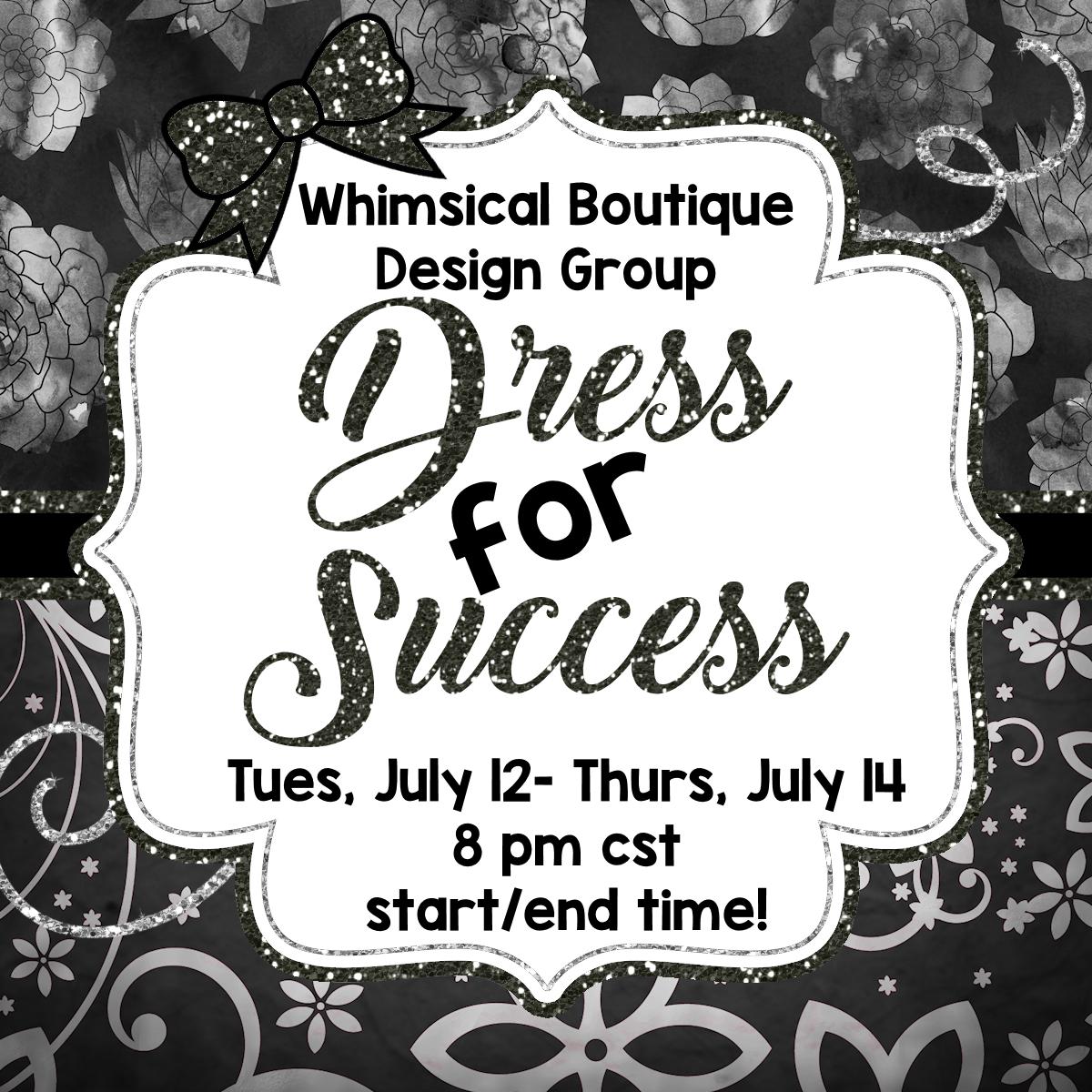 Go check out Whimsical Boutique Design Groupus Dress for Success