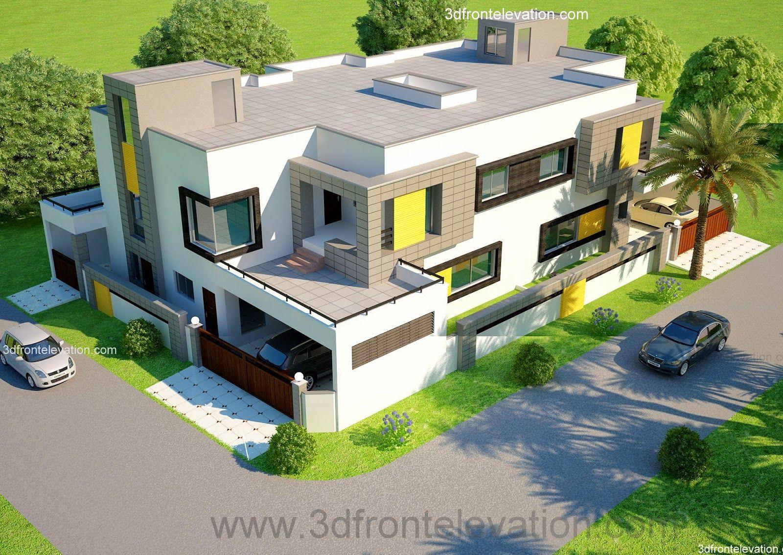 modern duplex 2 floor house design area 198m2 9m x 22m