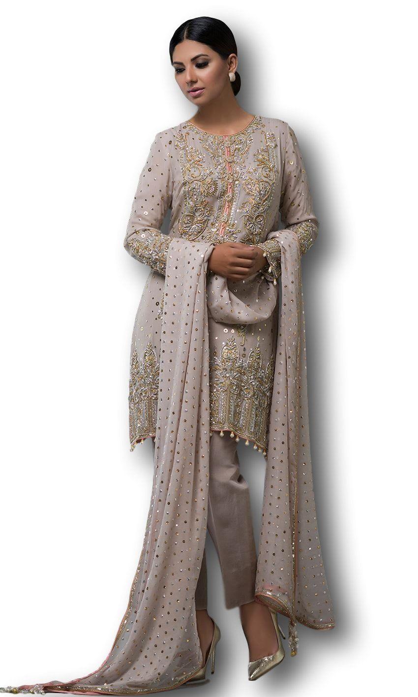 8f05ce1aaf Dusty Rose Color Salwar Kameez in 2019 | Dresses | Dusty rose color ...