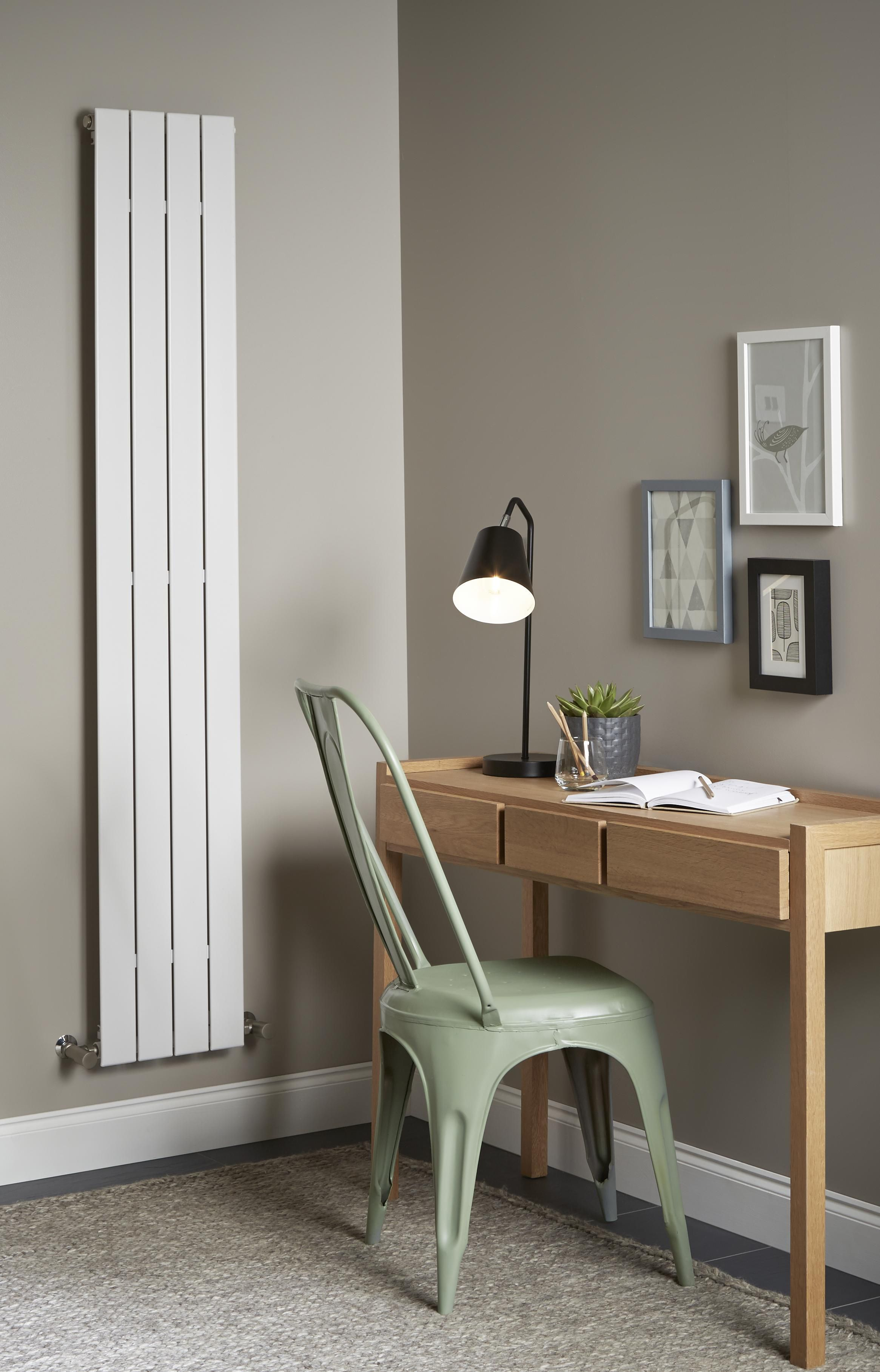 Designer Living Room Radiators: Get Creative With A Vertical Designer White Radiator