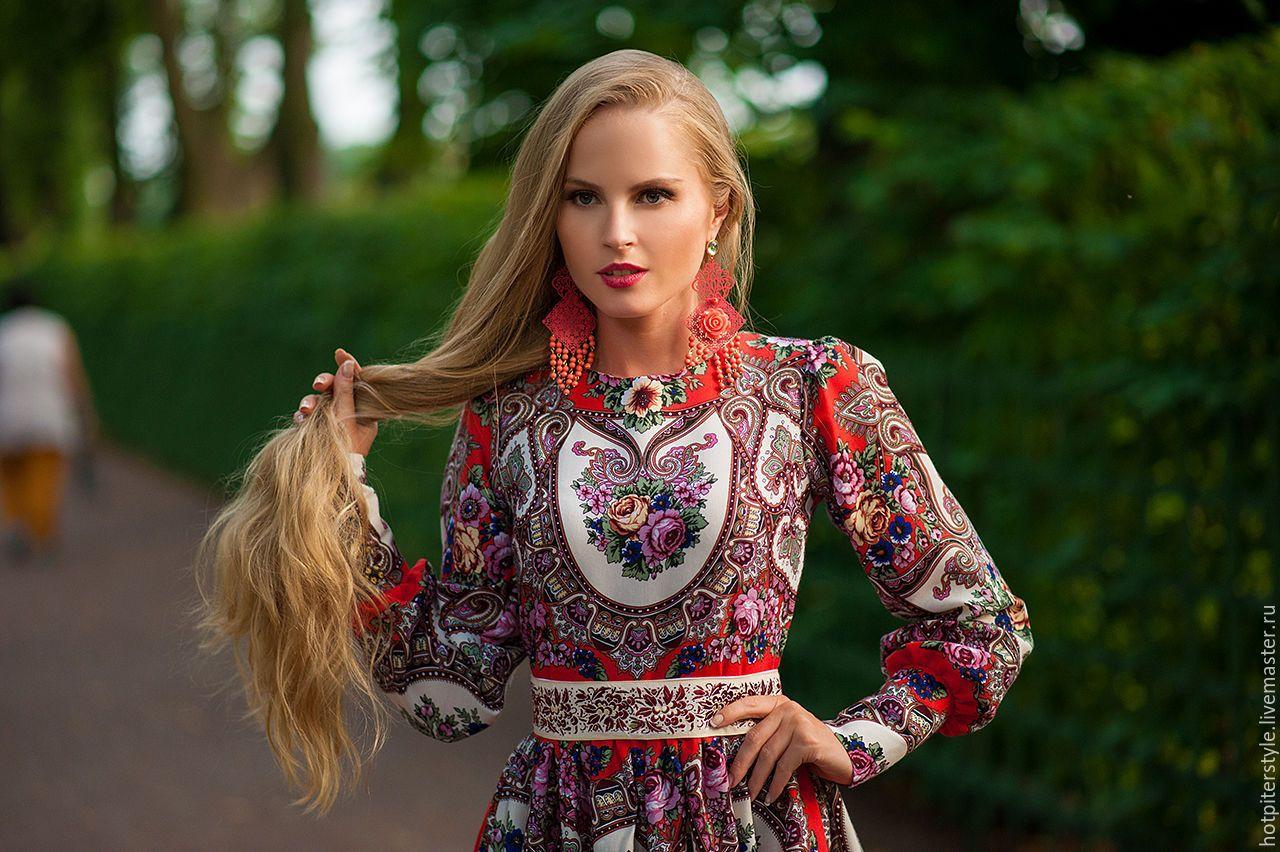 Картинки русские платья