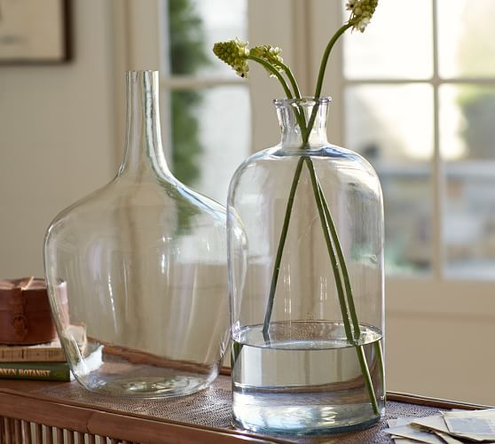 Aegean Clear Glass Vase Mini Clear Glass Vases Glass Glass Vase