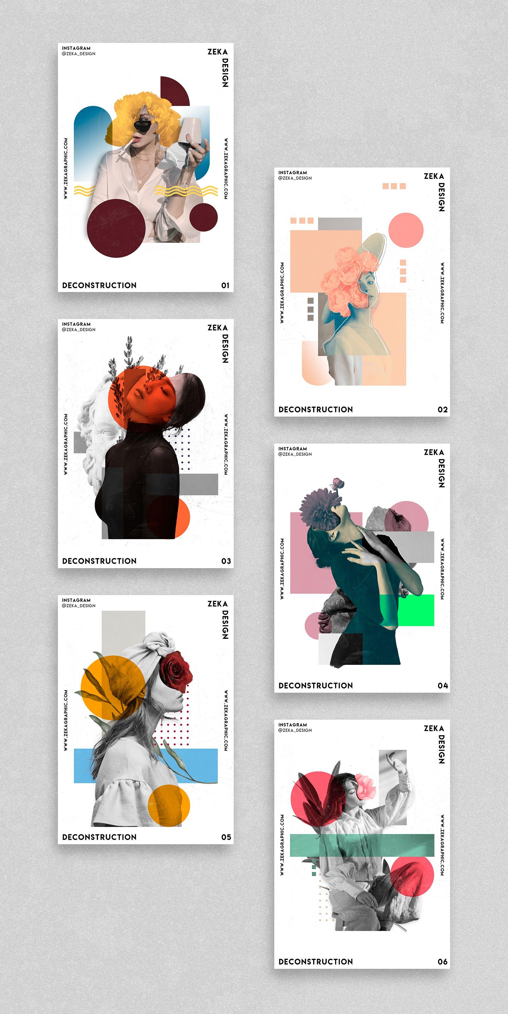 Deconstruction Poster Design Project Graphic Design Inspiration by Zeka Design