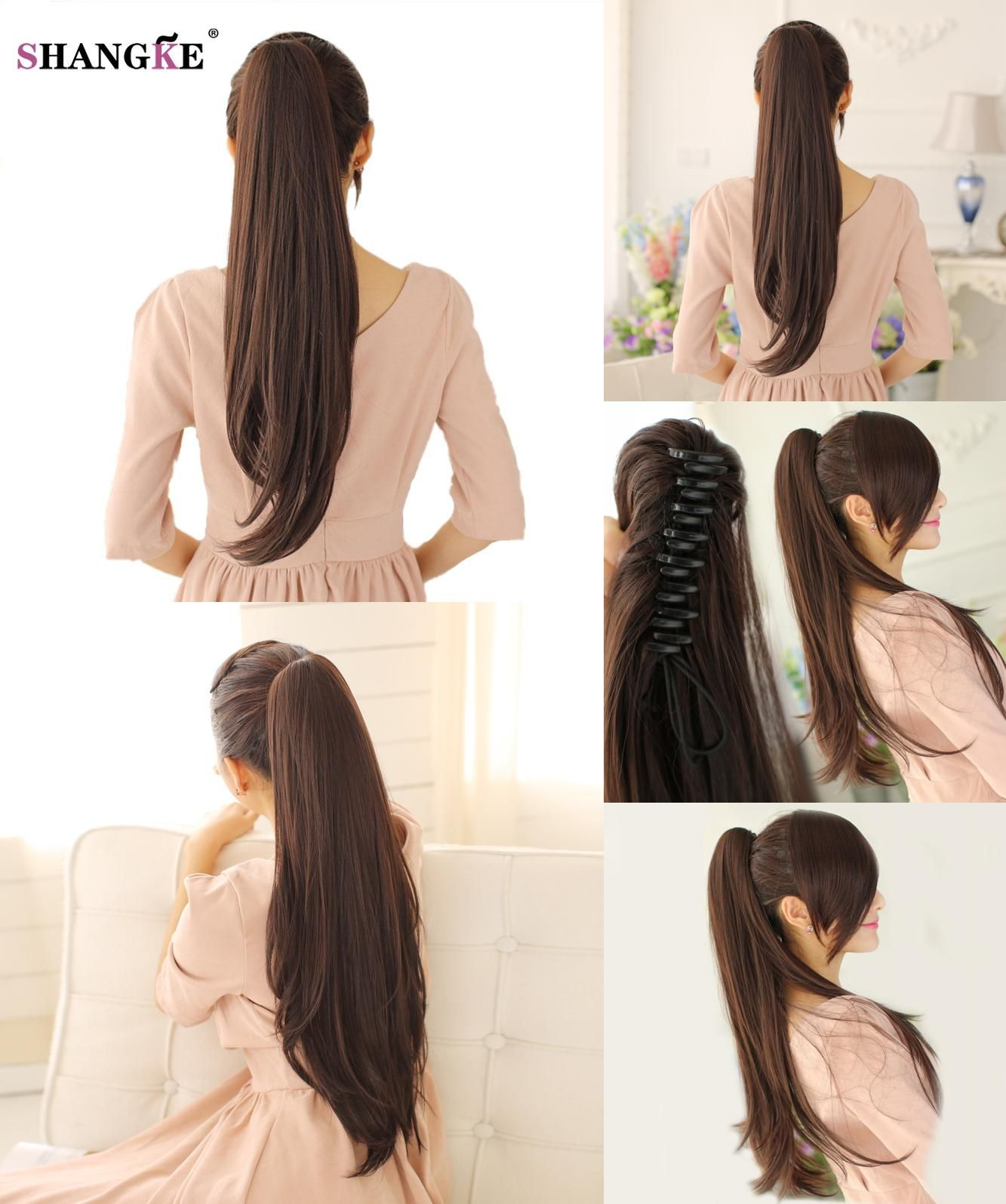 Visit To Buy Shangke Long Claw Ponytail Hairpiece Clip In Hair