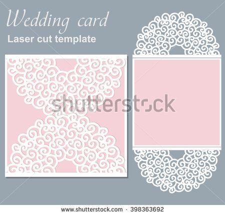 Vector die laser cut wedding card template wedding invitation card vector die laser cut wedding card template wedding invitation card mockup stock vector stopboris Gallery