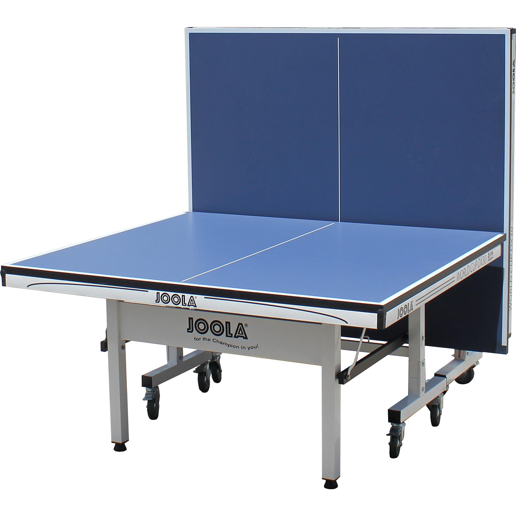 Joola World Cup Dx30 30mm Table Tennis 2 Piece Table Blue Table Tennis Table Ping Pong