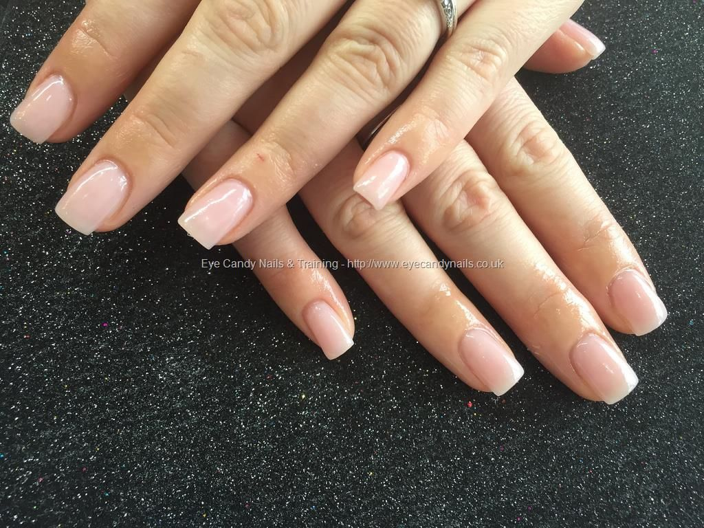 Acrylic Nails With Natural Pink Gel Polish Nail Technicianjoanne