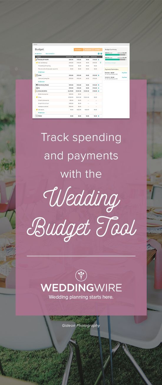 Easily stay within your budget using our free wedding budget - wedding budget calculator